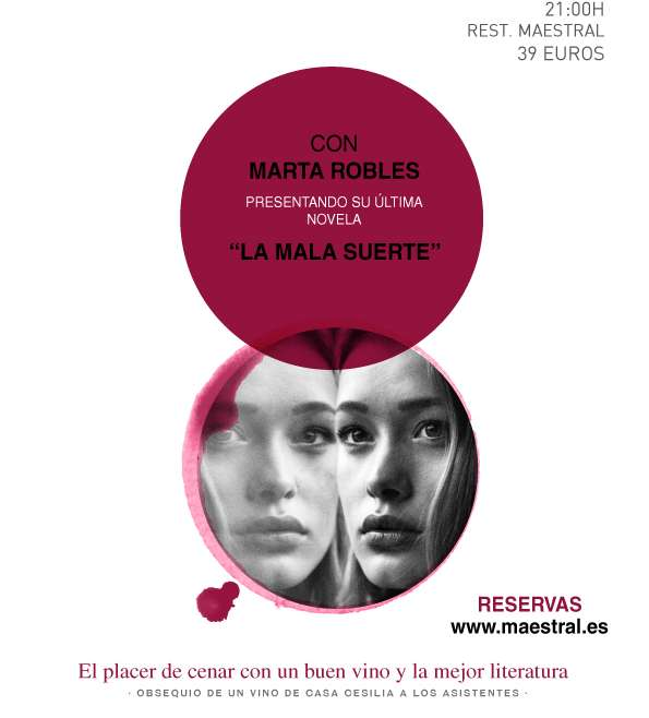 Marta Robles regresa con su segunda novela negra a las Veladas Literarias