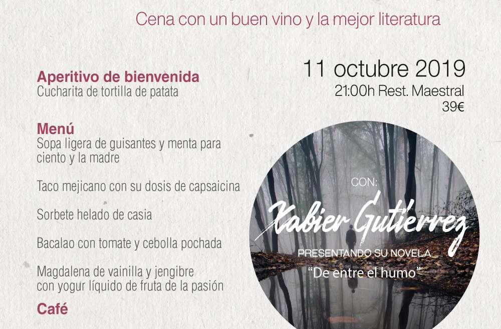 El chef Xabier Gutiérrez desentraña su 'noir'  gastronómico en las Veladas Literarias