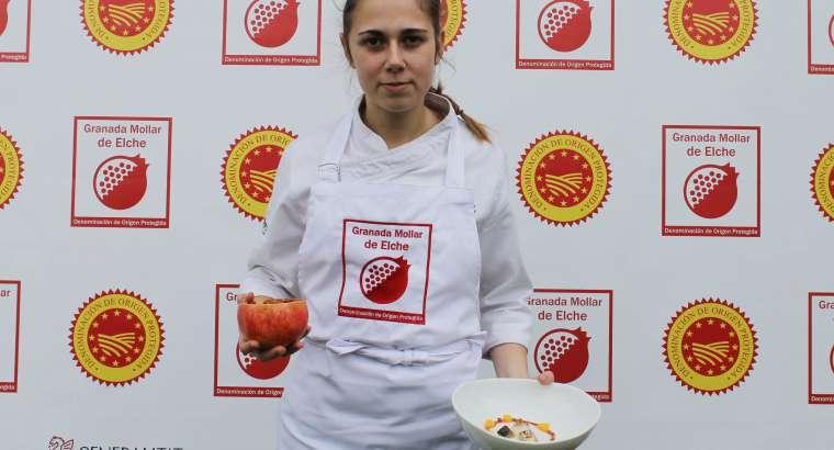 Cristina Gómez, del Restaurante Eneko, gana el Concurso de Cocina Creativa con Granadas de Elche